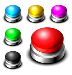 Big button set vector image vector image