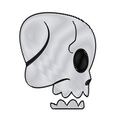Cartoon skull bone fantasy character vector