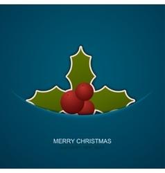 Modern christmas berries on blue background vector