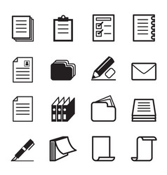 paper stationery icon set vector image