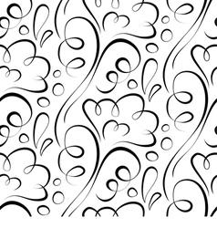 seamless background Backdrop black floral pattern vector image vector image