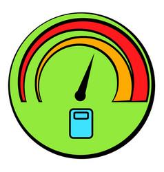 car fuel gauge icon cartoon vector image