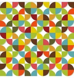 Colorful geometric seamless set vector image vector image
