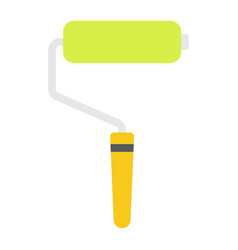 paint roller flat icon build and repair painting vector image