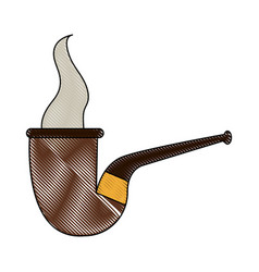tobacco pipe isolated vector image