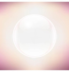 Transparent Sphere And Pastel Background vector image