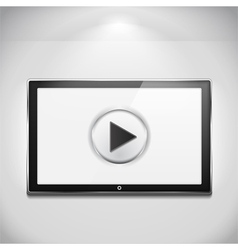 TV with Play Button vector image vector image