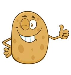Winking Potato Cartoon vector image vector image