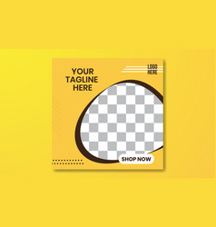 04 social media and banner template yellow vector