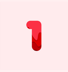 1 blood font template design vector