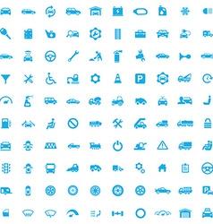 100 auto icons vector