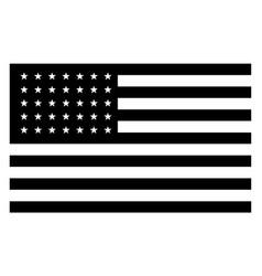 35 star united states flag 1863 vintage vector