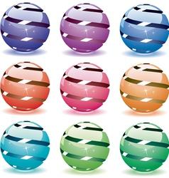 3d shiny globes vector