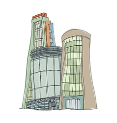 A building stand on vector image