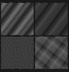 abstract set of wavy seamless pattern vector image