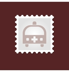 Ambulance medical stamp vector