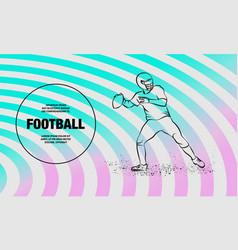 american football quarterback throws ball vector image