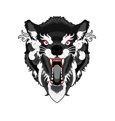 angry-ethnic-wolf vector image