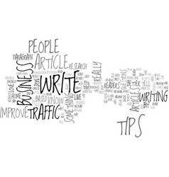 Article tips to improve traffic text word cloud vector