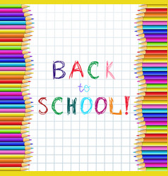 Back to school hand writing inscription on vector