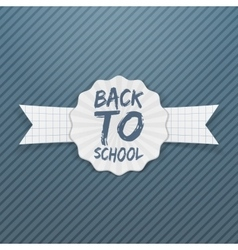 Back to School Tag with white Ribbon vector
