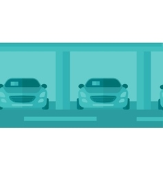 Background of car shop vector