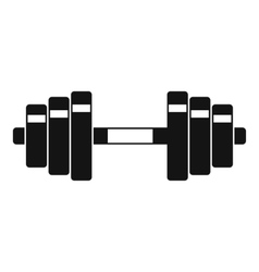 Barbell icon simple style vector