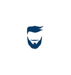 beard logo vector image