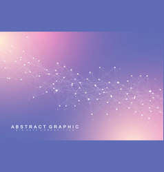Big data visualization geometric abstract vector