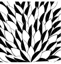 black and white leaf pattern stacked on top of eac vector image