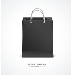 Black Paper Bag vector image
