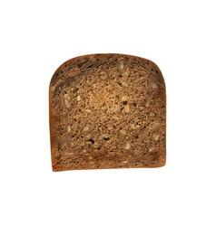 Black slice bread composition vector