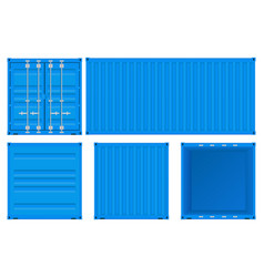 Blue shipping container vector