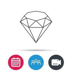 Brilliant icon Diamond gemstone sign vector