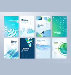 Brochure and annual report templates vector