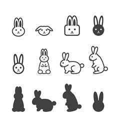 Bunny icon vector