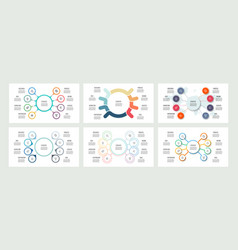 Business infographics organization charts with 8 vector