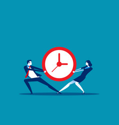 business people and vying for time concept vector image