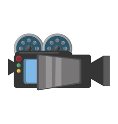 camera film record movie vector image