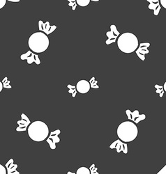 candy icon sign Seamless pattern on a gray vector image