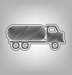 Car transports sign pencil sketch vector