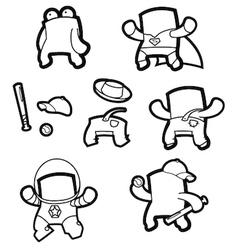 Cartoon Character Template vector