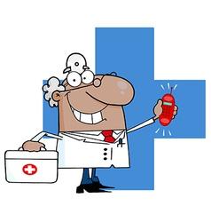 Cartoon doctor vector image