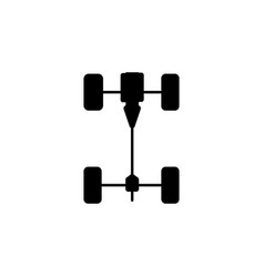 chassis car icon vector image