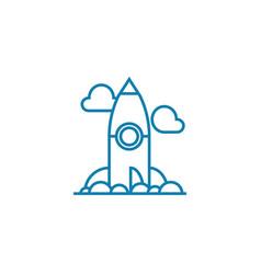 cosmodrome linear icon concept cosmodrome line vector image