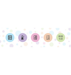 Count icons vector