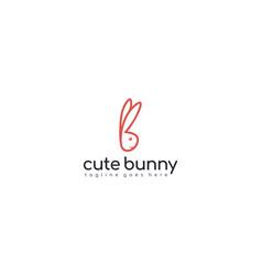 Creative and modern cute bunny for animal cartoon vector