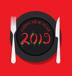 creative new year 2019 vector image