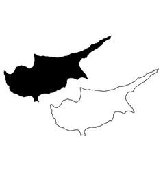 cyprus island map vector image