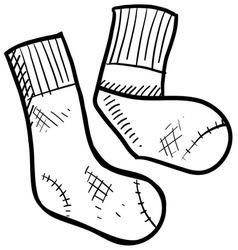 Doodle socks vector